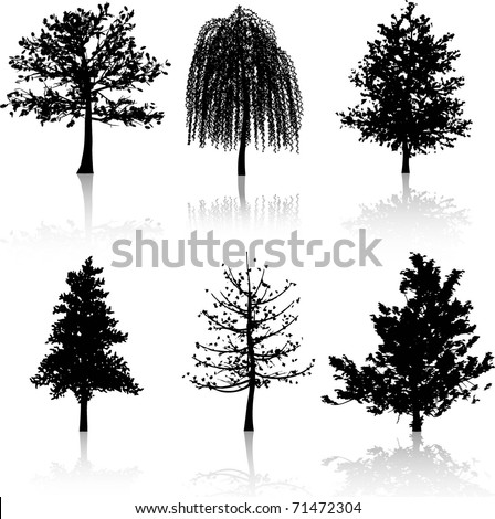 silhouettes of various