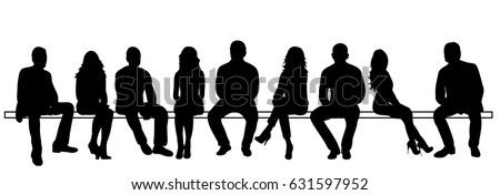 silhouettes people sitting