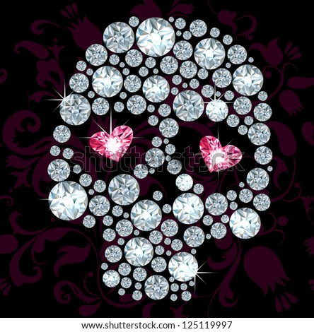 silhouuette of skull made with