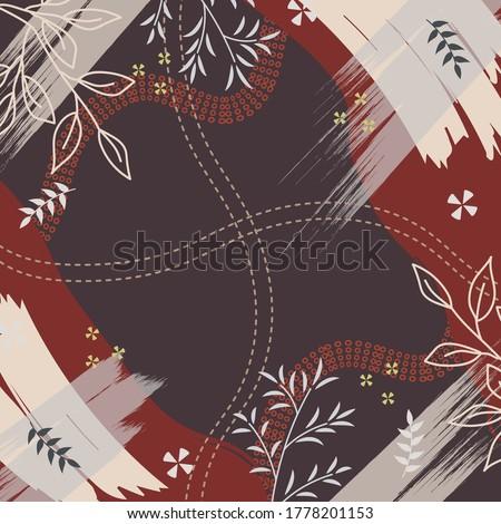 silk scarf pattern design with