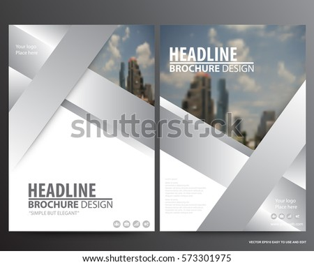 Silver abstract annual report Brochure design template vector. Business Flyers infographic magazine poster.Abstract layout template ,Book Cover presentation portfolio.
