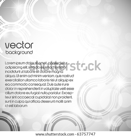 silver abstract background - stock vector