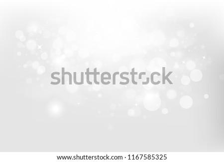 silver bokeh  stars and bubbles