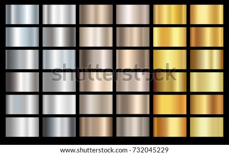 silver  bronze and gold foil