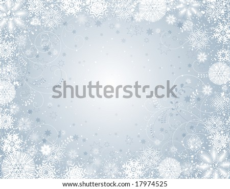 silver  christmas background, vector illustration - stock vector