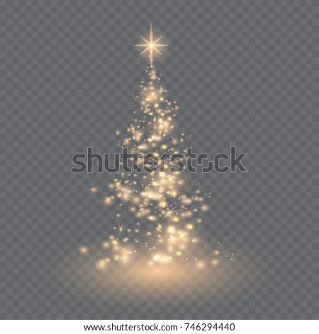 silver christmas tree on