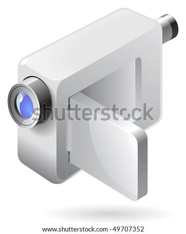 video camera clipart. compact video camera.