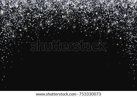 Silver falling particles in arch form. Vector illustration