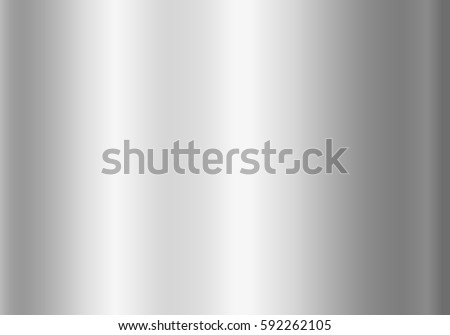 Silver foil texture background. Grey vector elegant, shiny and metal steel gradient template for chrome border, silver frame, ribbon or label design.