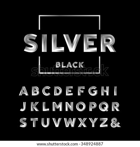 silver font vector alphabet