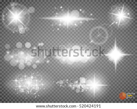 silver glitter bokeh lights and
