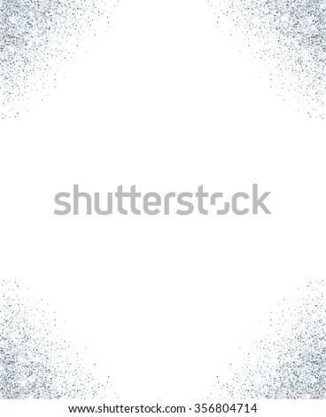 Vector Images, Illustrations and Cliparts: Silver glitter frame with ...