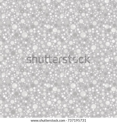 Silver glitter seamless pattern. Abstract texture background whit dots. Shiny holidays background.