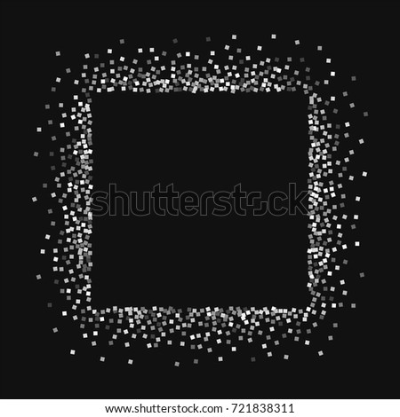 silver glitter square abstract