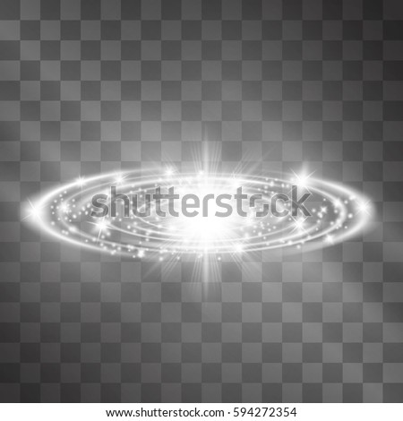 silver glow vector light effect
