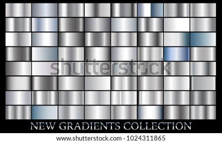 shiny silver ribbon banner set download free vector art stock