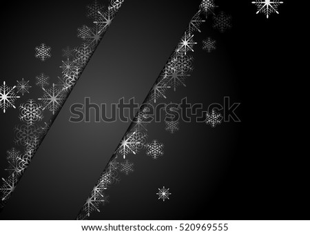 Silver grey snowflakes Christmas corporate background. Vector greeting card design