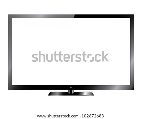 Silver Led or Lcd TV  - Vector Design EPS10