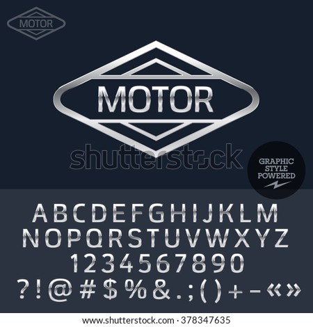 silver logo for motorbike and