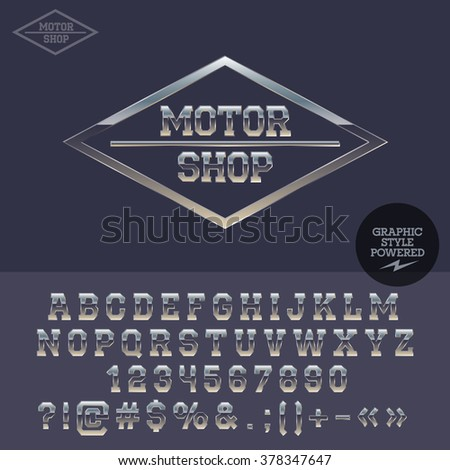 silver logotype for motor shop
