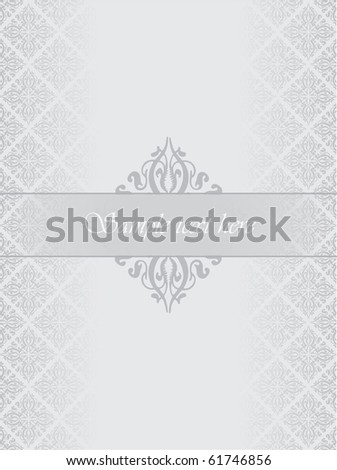 Silver luxury background - stock vector