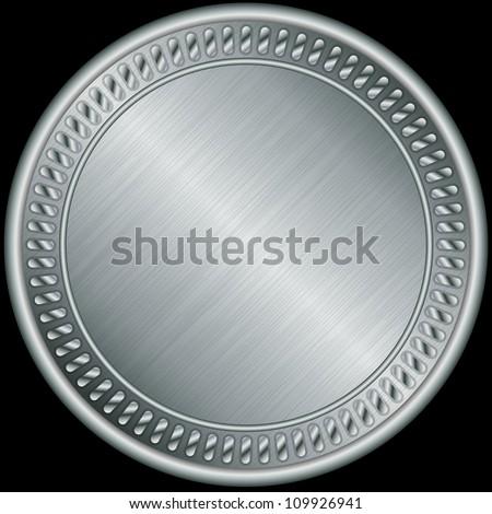 Silver medal, vector illustration - stock vector