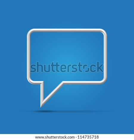 Silver metallic wire sharp conference icon hanging over light background
