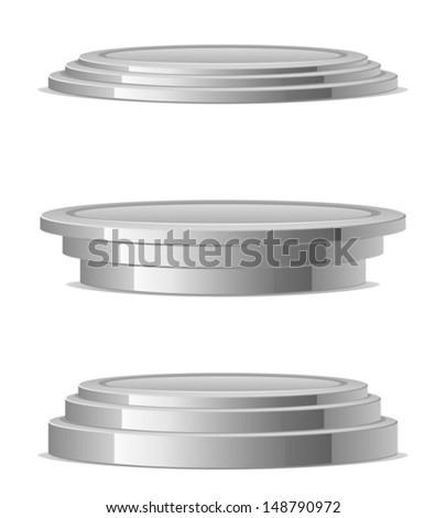 Silver podium