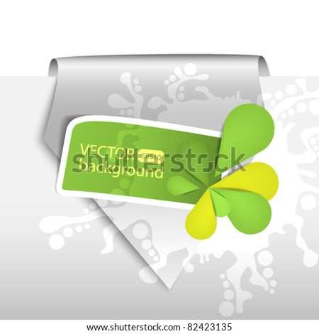 Silver pointer with green sticker - space fpr text