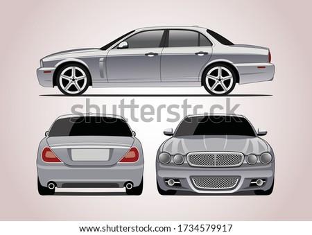 silver premium sedan  three way