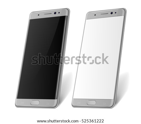 silver realistic smart phone