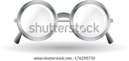 silver rounded metal glass