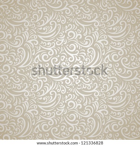 Silver seamless pattern in retro style