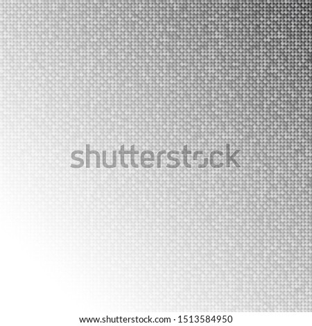 Silver sequins, glitters, sparkles, paillettes, mosaic background template. Abstract luxury halftone vector creative backdrop. Silver rounds with gradient trendy. Vibrant shiny dots glitter texture.
