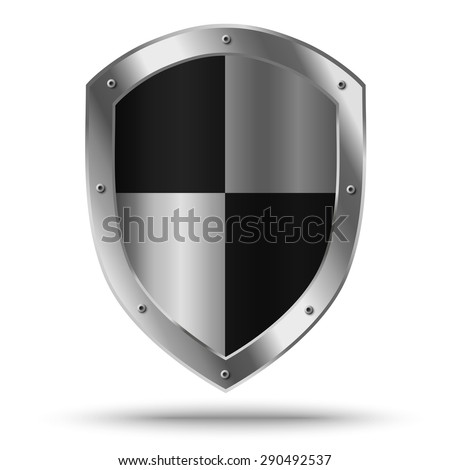 silver shield with chessboard