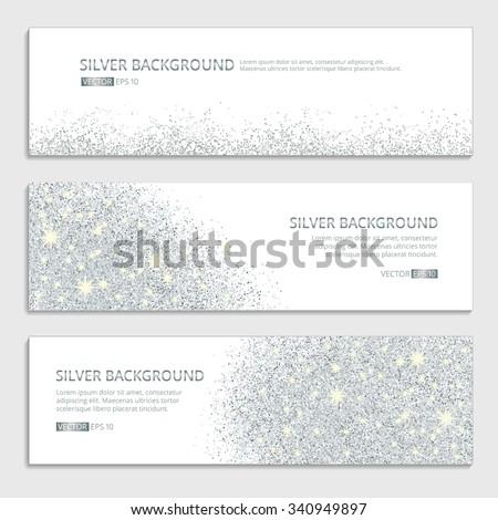 silver sparkles on white