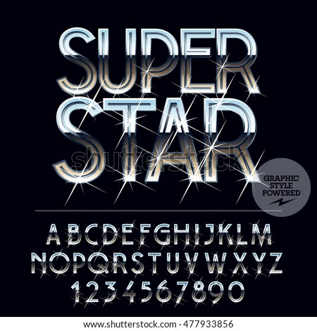 silver sparkling glossy vector