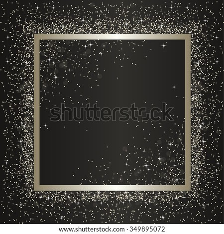 silver square frame with