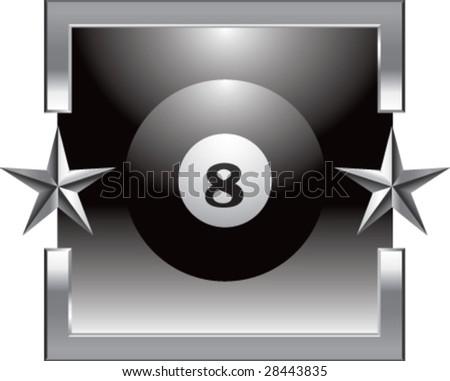 silver star billiard ball