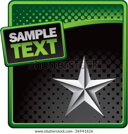 silver star green and black halftone template