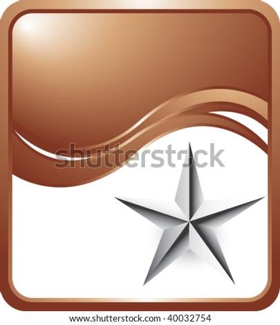 silver star on bronze wave background