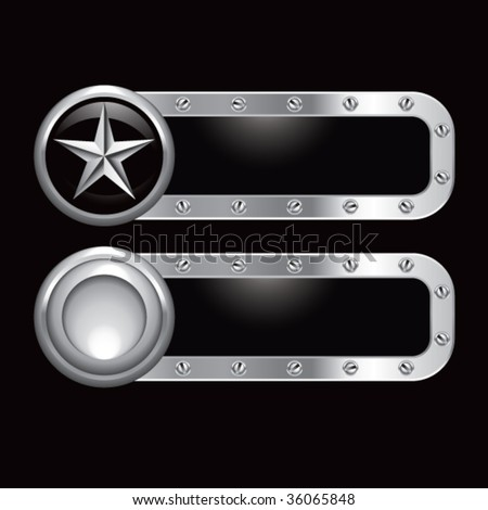 silver star on metal banners