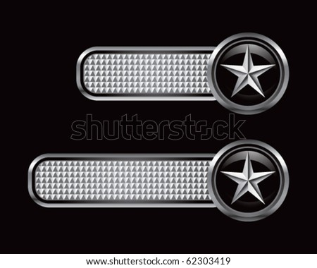 silver star on silver checkered tabs