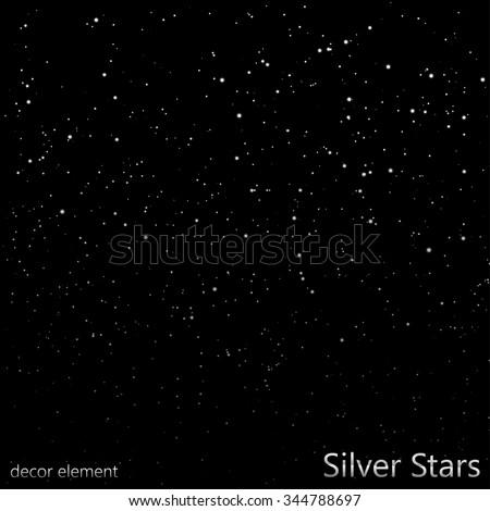 Silver Stars (overlay) | EPS10 Vector