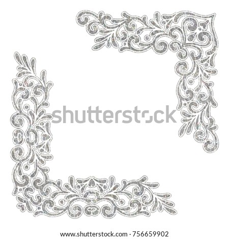 silver textured vintage corners ...