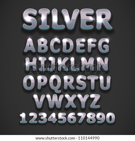 Silver vector font