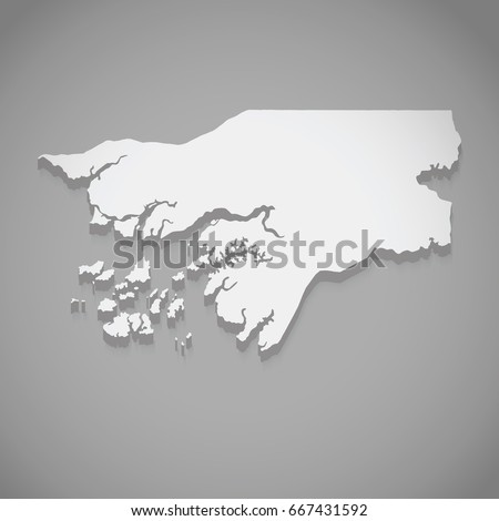 silver vector map of guin