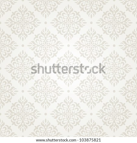 Silver vintage seamless wallpaper. EPS 8 vector illustration.