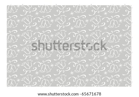 stock vector Silver Wedding Bell Background Pattern