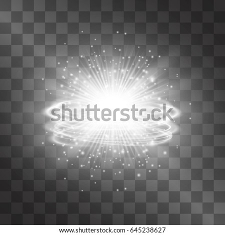 silver white glow vector light